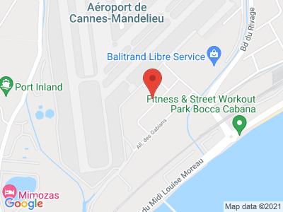 Plan Google Stage recuperation de points à Cannes proche de Antibes