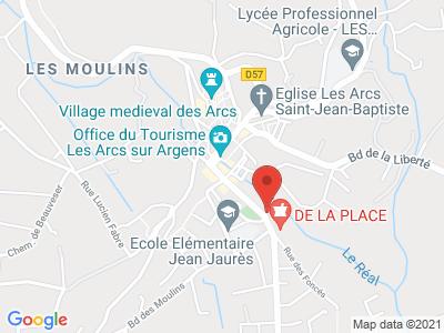 Plan Google Stage recuperation de points à Les Arcs proche de Sainte-Maxime