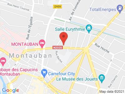 Plan Google Stage recuperation de points à Montauban