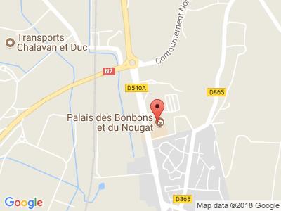 Plan Google Stage recuperation de points à Montélimar proche de Bollène