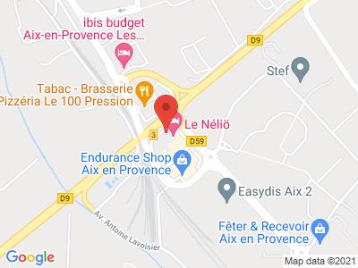 Plan Google Stage recuperation de points à Aix-en-Provence proche de Vitrolles