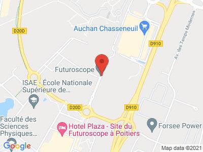 Plan Google Stage recuperation de points à Chasseneuil-du-Poitou proche de Châtellerault