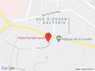 Plan Google Stage recuperation de points à Laval proche de Vitré
