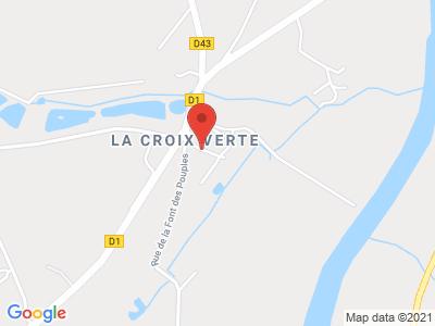 Plan Google Stage recuperation de points à Antran proche de Châtellerault