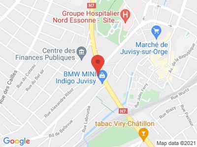 Plan Google Stage recuperation de points à Juvisy-sur-Orge