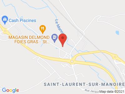 Plan Google Stage recuperation de points à Saint-Laurent-sur-Manoire proche de Périgueux