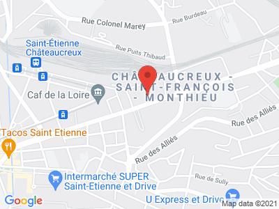 Plan Google Stage recuperation de points à Saint-Étienne