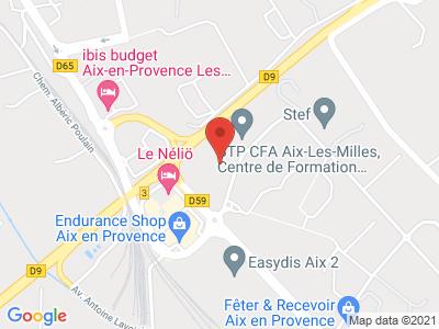 Plan Google Stage recuperation de points à Aix-en-Provence proche de Gardanne