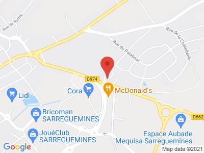 Plan Google Stage recuperation de points à Sarreguemines
