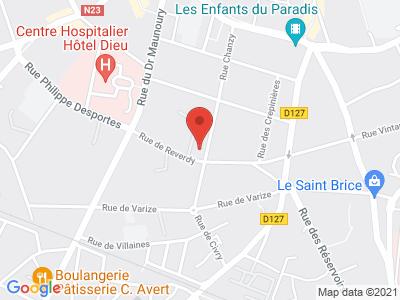 Plan Google Stage recuperation de points à Chartres proche de Dreux