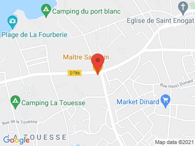 Plan Google Stage recuperation de points à Dinard proche de Dinan