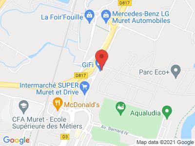 Plan Google Stage recuperation de points à Muret proche de Foix