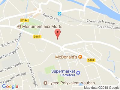 Plan Google Stage recuperation de points à Aire-sur-la-Lys proche de Saint-Omer