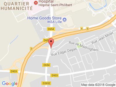 Plan Google Stage recuperation de points à Lomme proche de Lille
