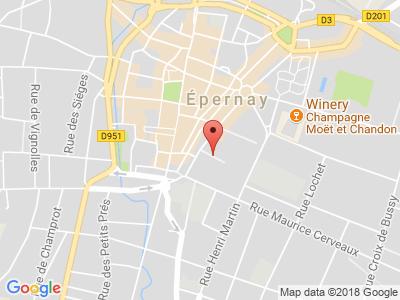 Plan Google Stage recuperation de points à Épernay proche de Châlons-en-Champagne