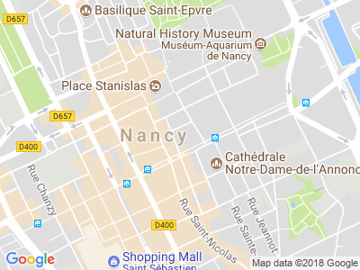 Plan Google Stage recuperation de points à Nancy proche de Neufchâteau