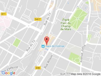 Plan Google Stage recuperation de points à Colmar proche de Saint-Dié-des-Vosges