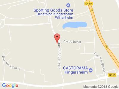 Plan Google Stage recuperation de points à Kingersheim proche de Mulhouse