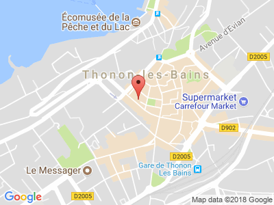 Plan Google Stage recuperation de points à Thonon-les-Bains
