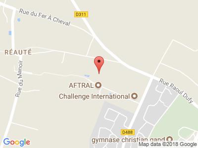Plan Google Stage recuperation de points à Montivilliers proche de Gruchet-le-Valasse