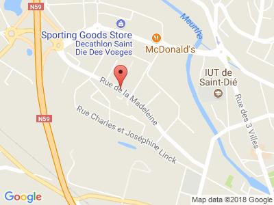 Plan Google Stage recuperation de points à Saint-Dié-des-Vosges proche de Épinal