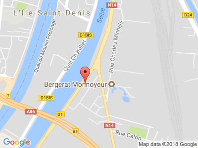 Plan Google Stage recuperation de points à Saint-Denis proche de Garges-lès-Gonesse